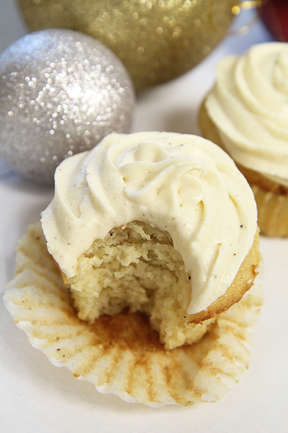 » Eggnog Cupcakes with Eggnog Buttercream » Say it with ...